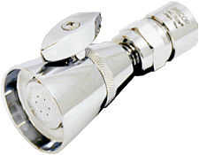 Water saving shower heads with shut off valves